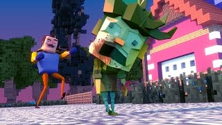 Download Minecraft - NEIGHBOR TURNS HIS CHILD INTO A ZOMBIE! (Hello Neighbor in Minecraft) Video