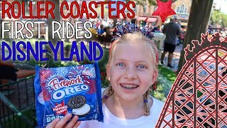 Download Michael's First Real Roller Coaster & Owen's First Ride Ever! 4th of July at Disneyland!! Video