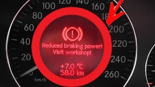 Download Problem. Reduced braking power! Start engine! / Mercedes w211 E-Class Service brake visit workshop Video