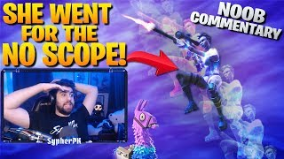 Download She Went For The No Scope! - Noob Commentary (Fortnite Battle Royale) Video