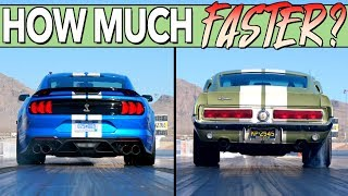 Download We Drag Race A New and Classic Ford Shelby Mustang GT500 To See What 50 Years Of Progress Makes! Video