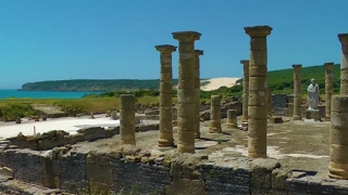 Download Baelo Claudia Roman ruins in Bolonia (Tarifa), Spain Video