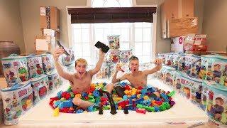Download BATHTUB FULL OF 10,000 LEGOS CHALLENGE! (FEAT. TANNER FOX) Video