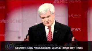 Download US election 2012: Mitt Romney attacks Newt Gingrich in Florida debate Video