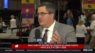 Download Wisconsin Coach Paul Chryst on QB Competition and More | 2019 B1G Football Media Days Video