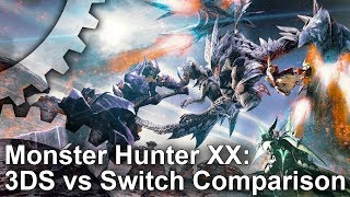 Download Monster Hunter XX: Switch vs 3DS Graphics Comparison + Frame-Rate Test Video