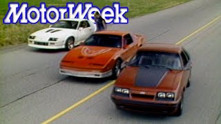 Download 1985 Mustang GT vs. Camaro Iroc-Z vs. Trans Am | Retro Review Video