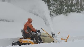 Download Cub Cadet Tractor-Mounted Snow Thrower During Snowzilla (2016) Video
