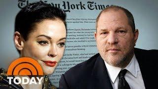 Download Actress Rose McGowan Details Rape Allegation Against Harvey Weinstein | TODAY Video