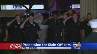Download Procession For Slain Palm Springs Police Officers Video