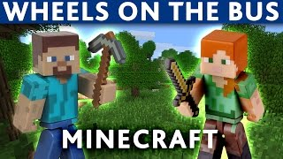 Download MINECRAFT WHEELS ON THE BUS SONG Video
