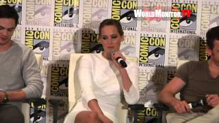 Download Jennifer Lawrence Hilarious Response at 'X Men: Days of Future Past' Comic Con 2013 Video
