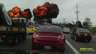 Download Dramatic Dashcam Footage Shows Plane Crash in Mukilteo Washington Video