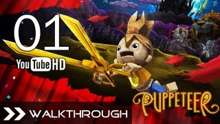 Download Puppeteer Walkthrough - Gameplay Part 1 (Stolen Away - Act 1 Curtain 1 - Weaver Boss) HD 1080p PS3 Video