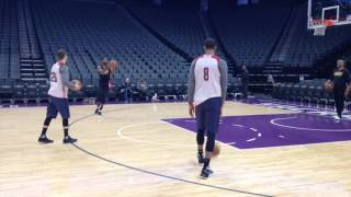 Download Kyle Korver participates in first shootaround with Cleveland Cavaliers Video