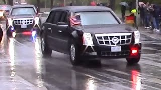 Download President Obama's Motorcade / Convoy in Hannover, Germany 24.04.2016 Video