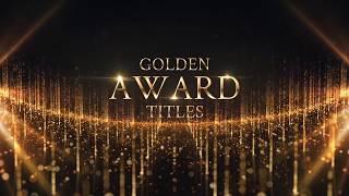Download Golden Award Titles & Awards Music (Royalty free media) Video