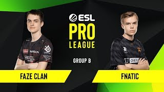 Download CS:GO - Fnatic vs. FaZe Clan [Overpass] Map 1 - Group B - ESL EU Pro League Season 10 Video