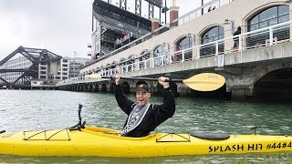 Download In a kayak in McCovey Cove outside AT&T Park! Video