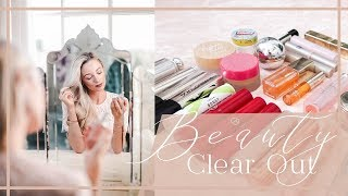 Download HUGE BEAUTY CLEAROUT // DECLUTTERING TIPS AND MAKEUP ORGANISATION Video