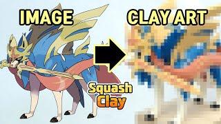 Download Pokémon Sword and Shield Clay Art: Zacian Legendary Pokémon!! Satisfying video Video