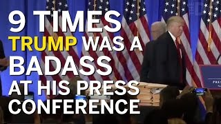 Download 9 Times Trump Was A Badass At His PEOTUS Press Conference Video