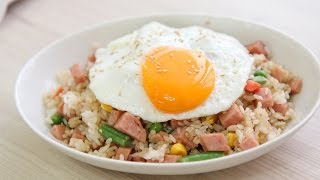 Download [SUB] 진짜 쉬운 굴소스 볶음밥 & 스팸썰기 아이디어 :easy recipe: How to make SPAM fried rice Video