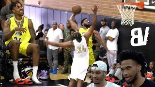 Download Nick Young Subs In Wearing CHAINS & FLIP FLOPS! NASTY Drew League Dunk w/ Tatum & Bagley Watching! Video