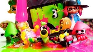 Download 【LEGO遊び】レゴとスライムでスプラトゥーンごっこ ナワバリバトルで勝負だぞ!【アナケナ&カルちゃんのキッズアニメ】Splatoon Video
