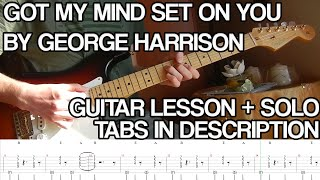 Download George Harrison - Got My Mind Set on You (Guitar playthrough + solo w/ TABS and download link) Video