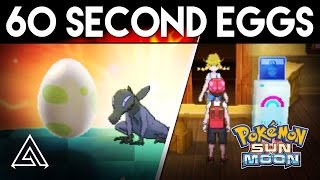 Download Pokemon Sun and Moon | How to Hatch an Egg in 60 Seconds! Video