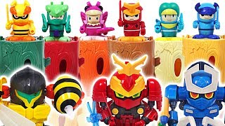 Download Bugs Ninja butterfly, scarab, spider and insect transform meca go! Defeat the dinosaurs! #DuDuPopTOY Video