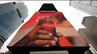 Download The Coca-Cola Company with World's First 3D Robotic Sign in Times Square Video
