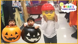 Download Kid plays Hide and Seek Halloween shopping Family Fun Toy Hunt + Kid Size Cooking Halloween Cookies Video