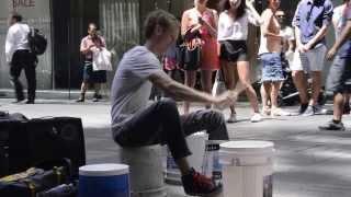 Download World's Fastest Street Drummer - Plastic Bucket Drummer Video