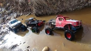 Download RC ADVENTURES - 3 Trail Trucks on a Fun Adventure - Group Trail Run - Scale 4x4 Trucks Video