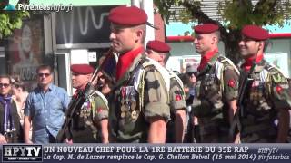 Download [TARBES] Une femme à la tête de la 1re batterie du 35e RAP (15 mai 2014) Video
