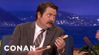 Download Nick Offerman Is A Woodworking Whiz - CONAN on TBS Video
