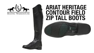 Download Review: Ariat Heritage Contour Field Zip Tall Boots Video