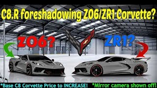 Download C8.R Corvette DESIGN coming to the Z06 or ZR1? Not all C8 Corvette models share 194 mph TOP speed! Video