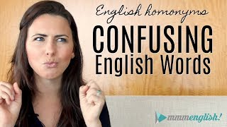 Download Confusing English Words! | HOMONYMS | Fix Common Vocabulary Mistakes & Errors Video