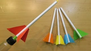 Download How to Make a simple Rocket Launcher - Easy paper Rocket launcher Tutorials Video