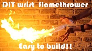 Make a Wrist Flamethrower With Only a Lighter! - AMAZING DIY Lighter