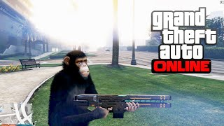 Download GTA 5 Trolling With Mods Online - Monkey + Rail Gun Video