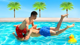 Download WWE MOVES IN THE POOL Video
