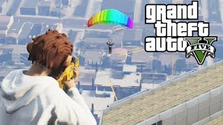 Download GTA 5 Online Pumping Gas, Para-shooting and Killing Friends Video