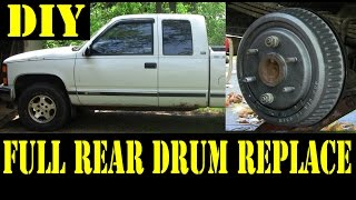 Download 1995 Chevy K1500 Complete rear drum brakes replacement 4x4 Video