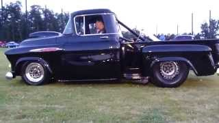 Download NASTY 57 PRO MOD STREET PICKUP START UP RIDE BY INSANE EXHAUST 7.90 1/4 MILE WHEELIE BARS NITROUS Video