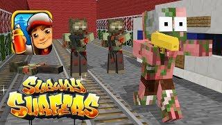 Download Monster School: Zombie Apocalypse Subway Surfers Challenge - Minecraft Animation Video