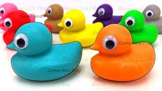 Download Learn Colors with Play Doh Ducks and Disney Molds with Surprise Toys Video